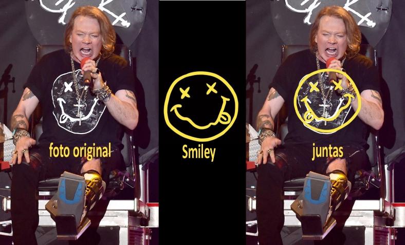 conclusión : no es el smiley de nirvana, tiene un ligero cambio en la sonrisa, pero se parecen mucho